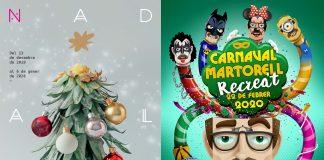 Cartells guanyadors del Concurs. Nadalem i Carnaval