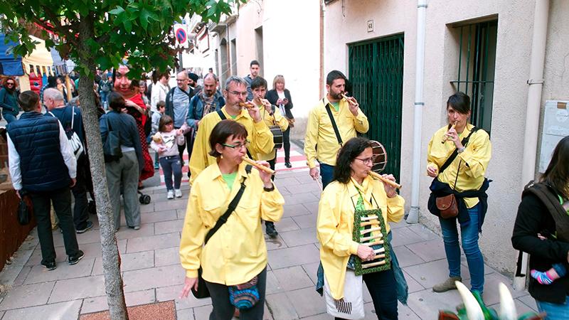 Capgrossos i Flaviolaires dels 4 Dracs, a la 35a Festa del Flaviol d'Arbúcies