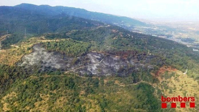 Incendi a El Congost. Juliol de 2017