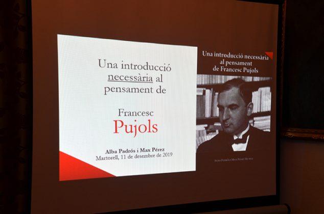 Presentació de 'Una introducció necessària al pensament de Francesc Pujols'