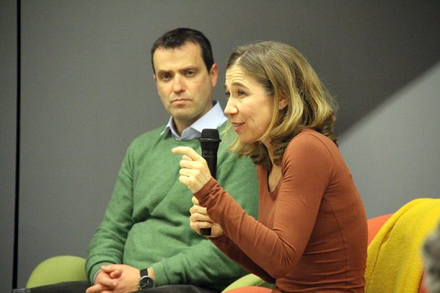 Presentació del llibre 'La cuina sostenible'. Ada Parellada i el regidor Andreu González