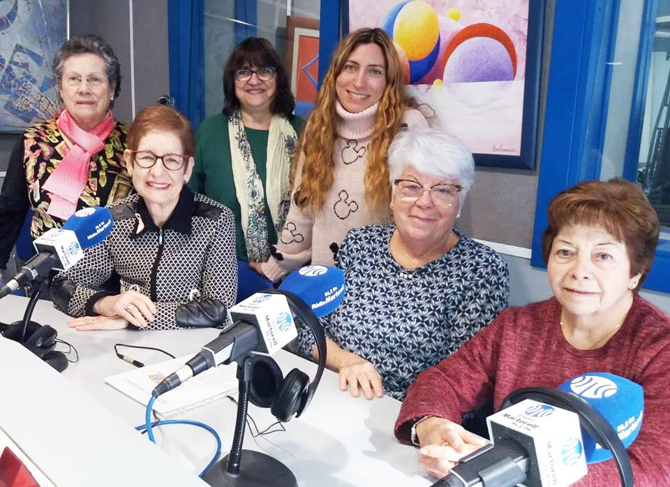 Teje X el autismo. Ana Ramos, Agustina Porcel, Cristina Murillo, Merche González, Enriqueta Tobella i Mari Carmen Rabaneda