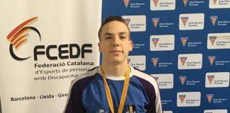 Pol Sallent, al Campionat de Catalunya de Natació Adaptada 2020