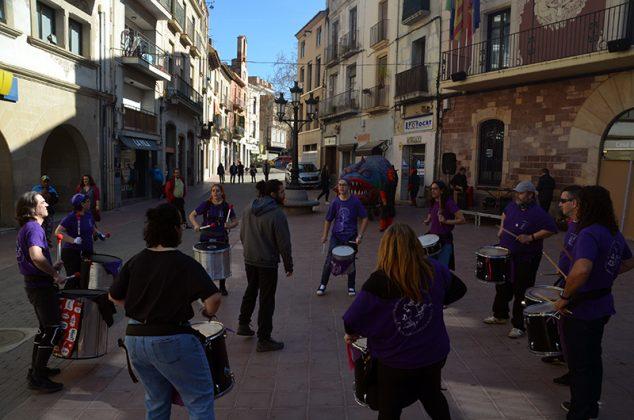 Dia Internacional de les Dones. Batucada dels Diables de Sant Andreu