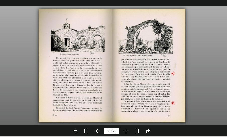 Exemplar digital del llibret 'Historial de Martorell' (1936)