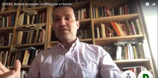 Andreu González, regidor de Cultura, fent la salutació al vídeo