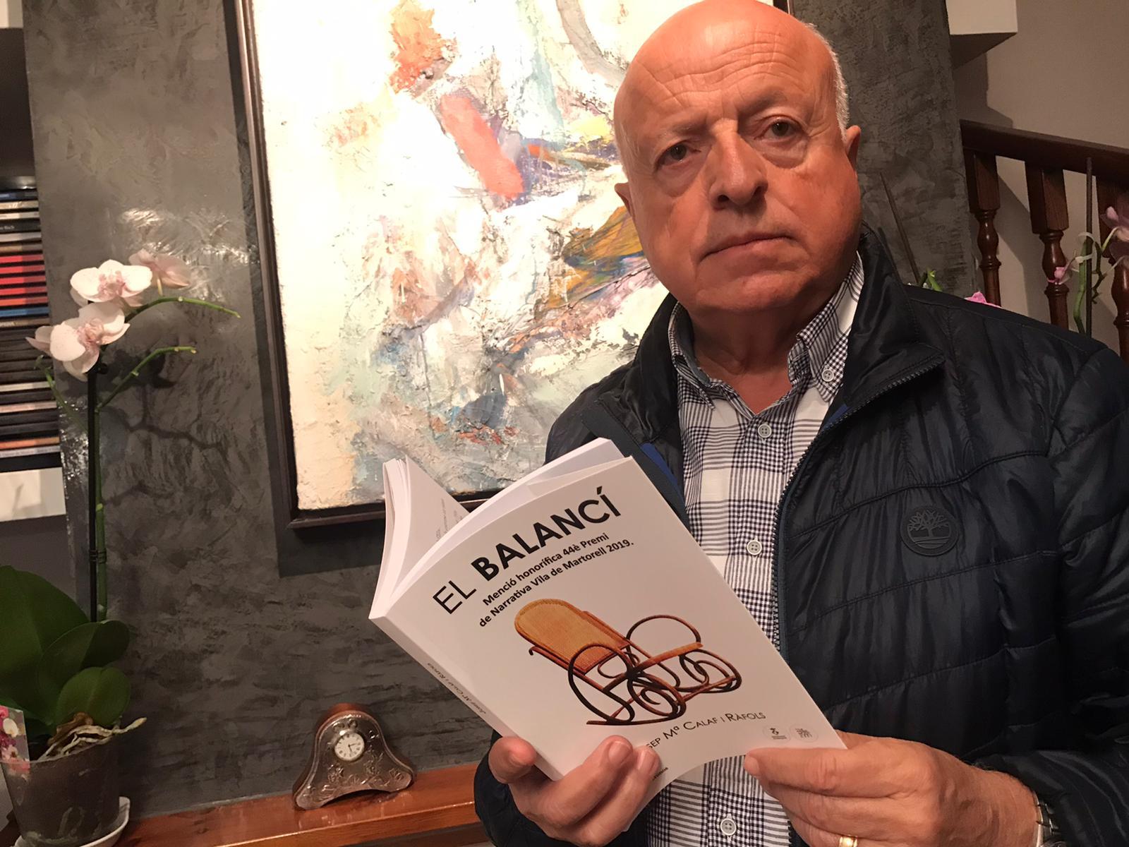 Josep Maria Calaf i la seva novel·la 'El balancí'