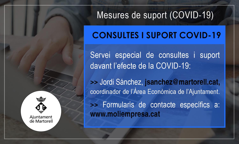 Servei de consultes i suport del Molí Empresa davant la Covid-19