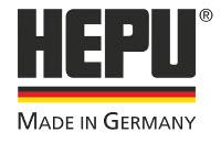 Das Firmenlogo der HEPU Autoteile GmbH