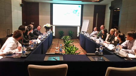 Die Teilnehmer des ersten Treffens der TecAlliance Business Development Group in China.