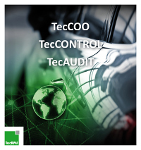 Im Mittelpunkt des TecRMI-Auftritts standen mit TecAUDIT, TecCOO und TecCONTROL optimierte onlinebasierte und fuhrparkspezifische Lösungen aus den Bereichen Rechnungsprüfung, Kostenkalkulation und Administration von Werkstattaufträgen.