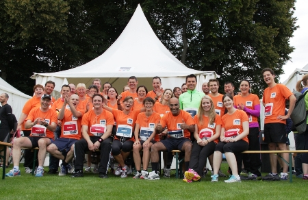 Some of the TecAlliance runners just before the start