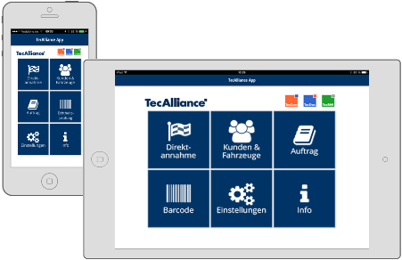 In the app TecAlliance MOBILE the standardised data and functions of the proven TecAlliance products are optimally combined with the comfort and convenience of mobile devices.