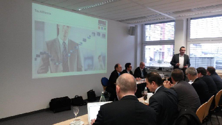 Andreas Assmann (Vice President Information Management TecDoc) speaking at the ASA event.