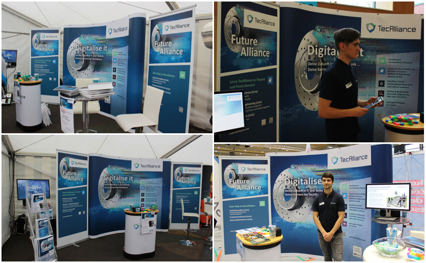 Impressions of the training fair appearances in Würzburg, Röttingen and Schrozberg
