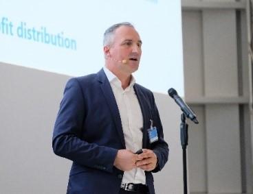 Alexander Haid, Geschäftsführer der Caruso GmbH, stellte am 16.11.2017 den digitalen Datenmarktplatz Caruso offiziell vor.