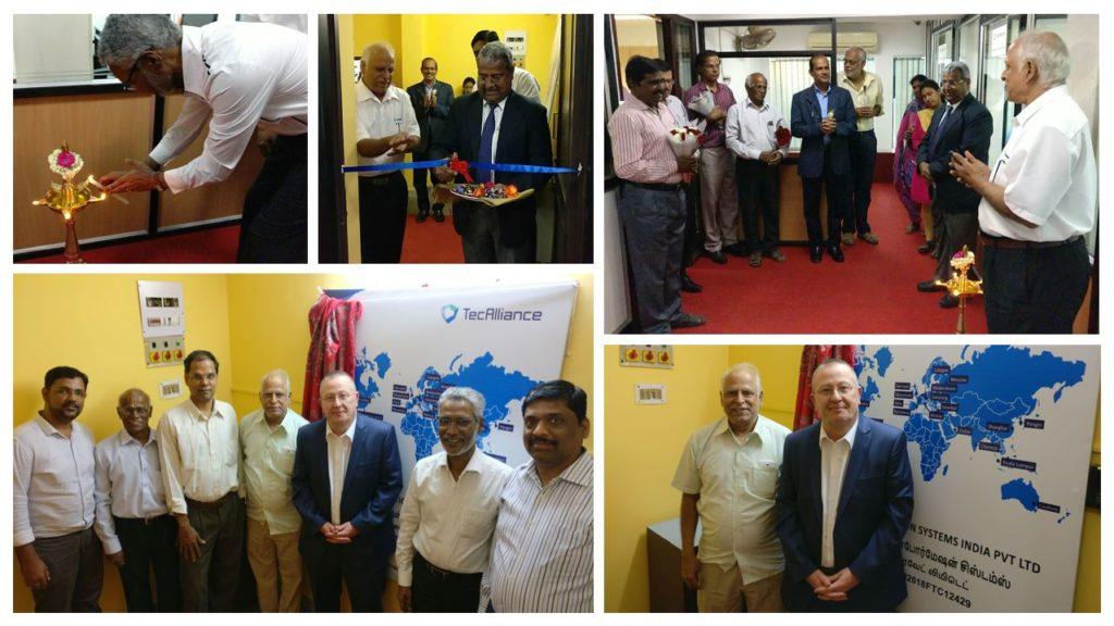 Impresiones de la apertura del centro de TecAlliance en la India.