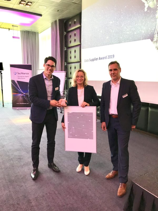 TecAlliance Data Supplier Award pour MANN+HUMMEL