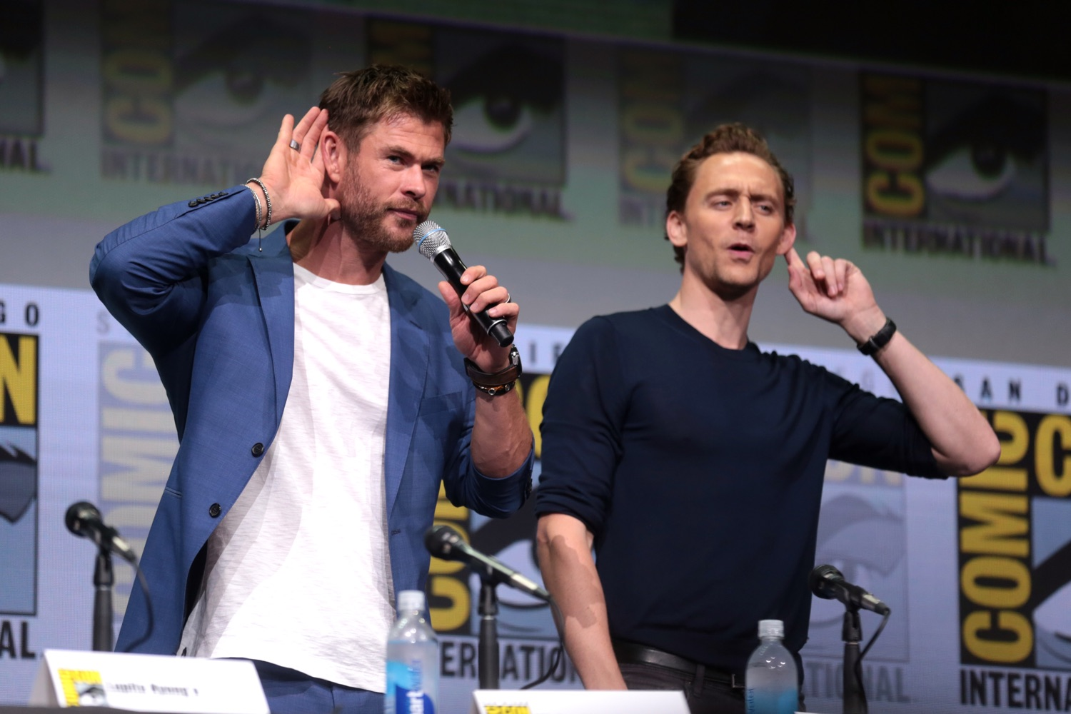 Chris Hemsworth und Tom Hiddleston. Foto: Gage Skidmore/Flickr