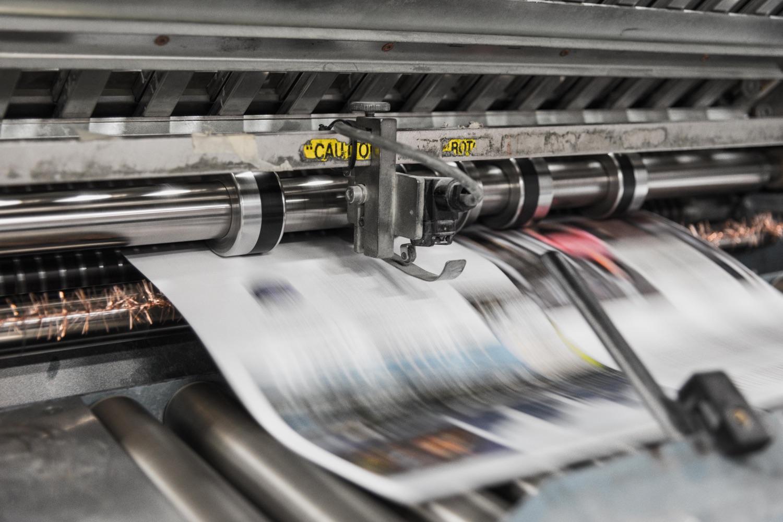 Druckmaschine für Zeitungen. Foto: Bank Phrom/Unsplash