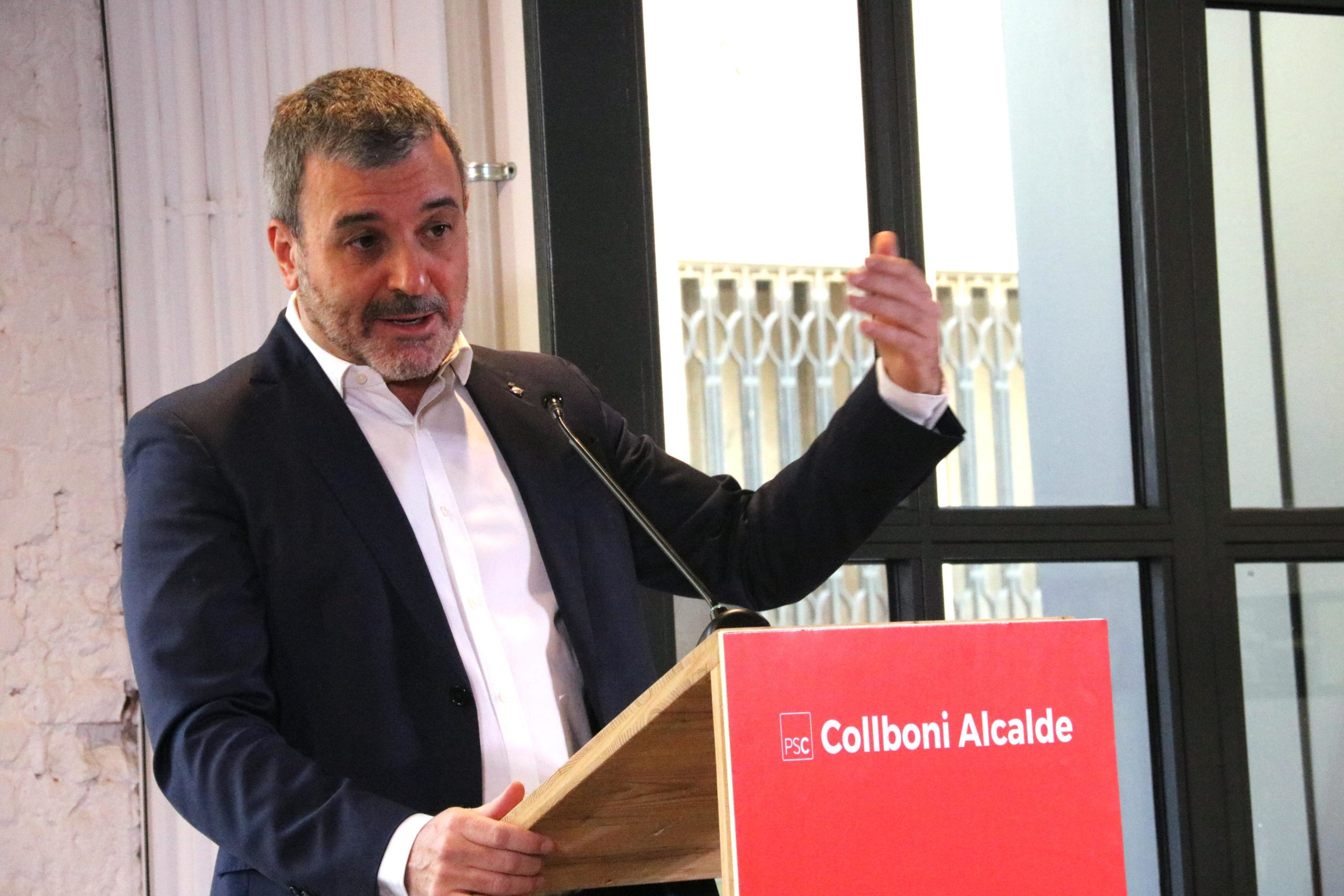 La pintada que ha denunciat l'alcaldable Jaume Collboni. 8-4-2019 | Jaume Collboni