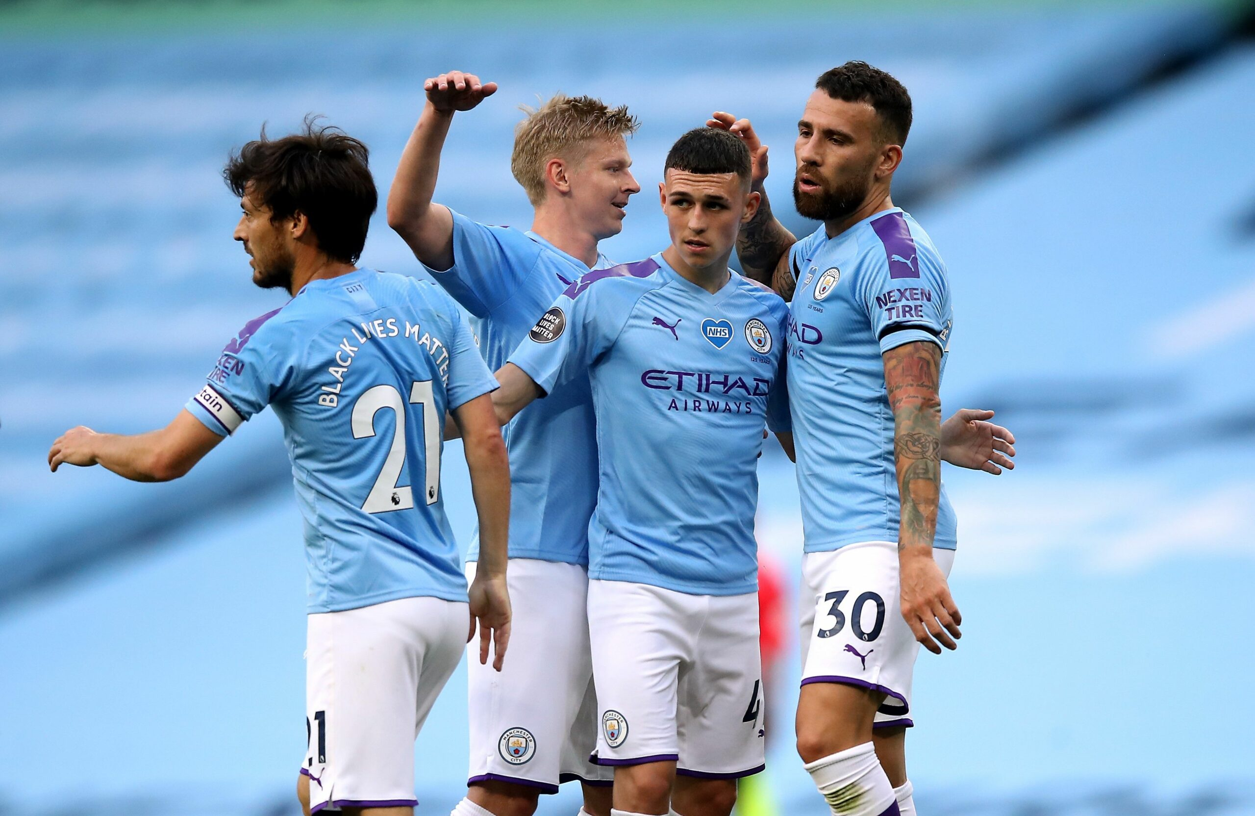 Els jugadors del City celebren un gol  Europa Press