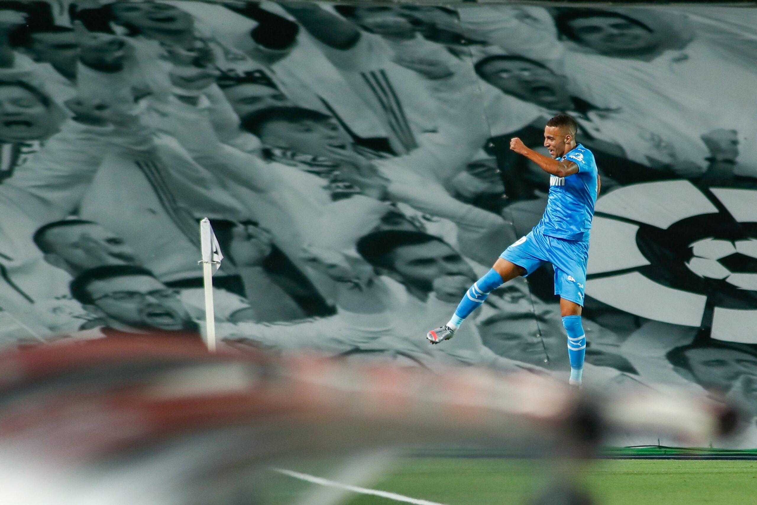 Rodrigo Moreno celebra el seu gol contra el Madrid | Europa Press