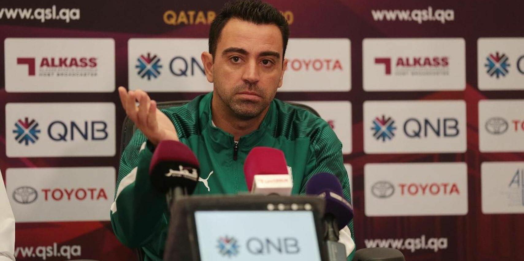 Xavi, durant una roda de premsa |Al Sadd