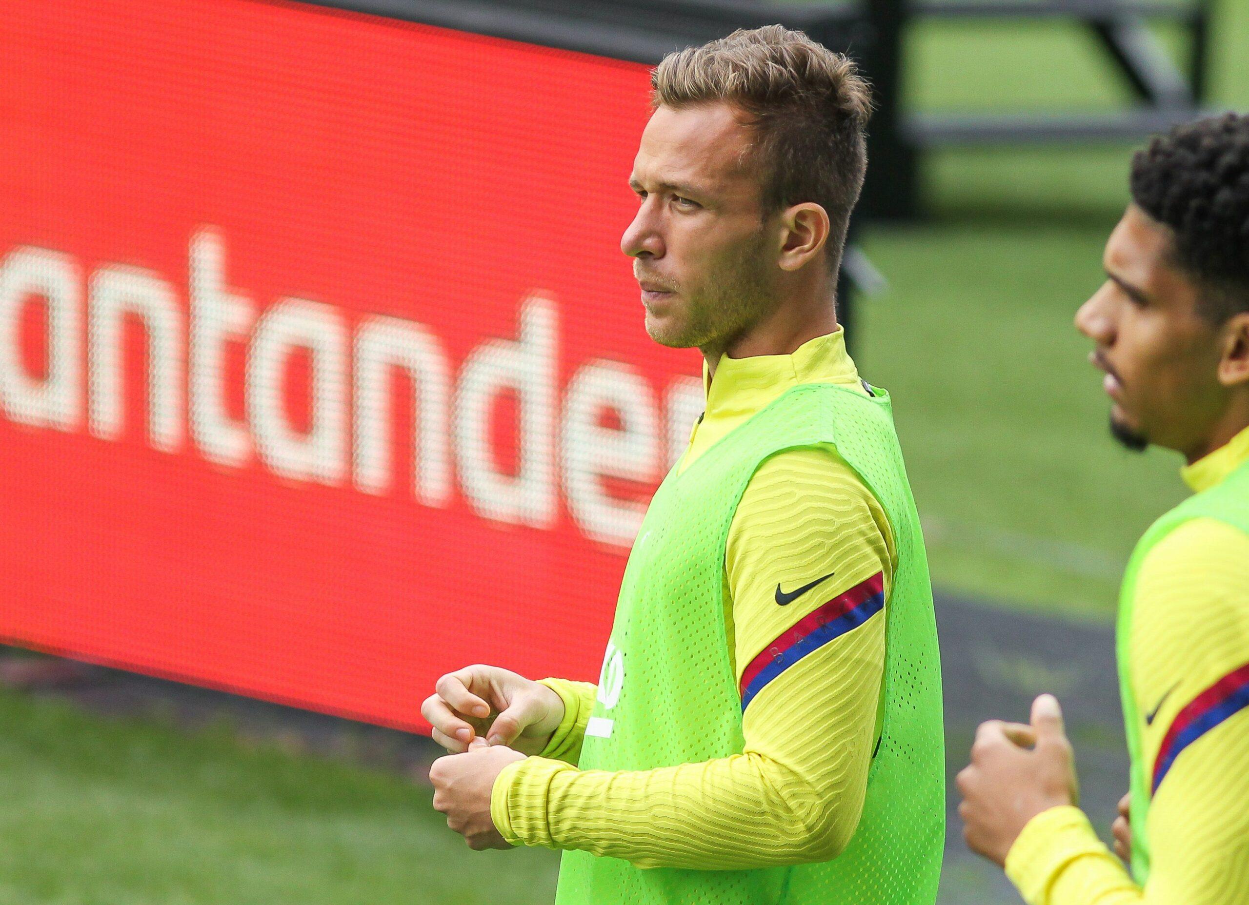 Arthur, durant el partit del Barça al camp del Celta   Europa Press