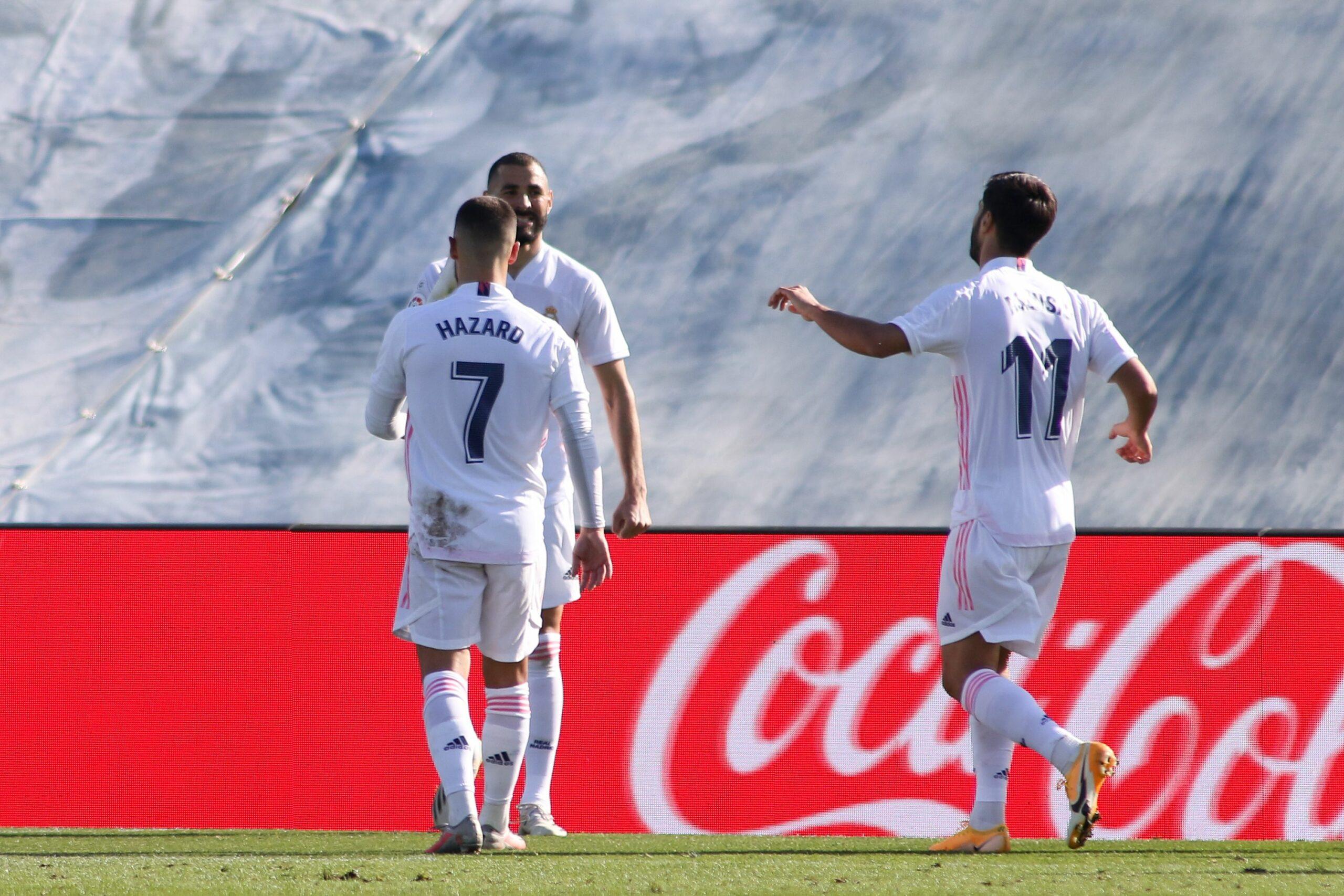 Benzema celebra el seu gol contra l'Osca | Europa Press