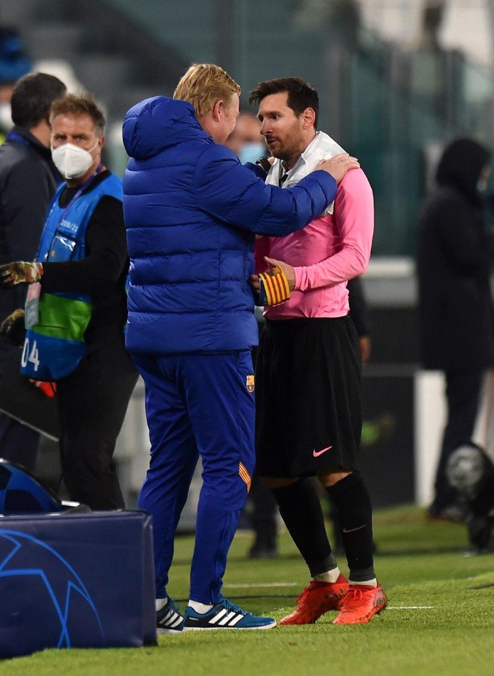 Koeman i Messi, després de la victòria del Barça a Torí   FC Barcelona