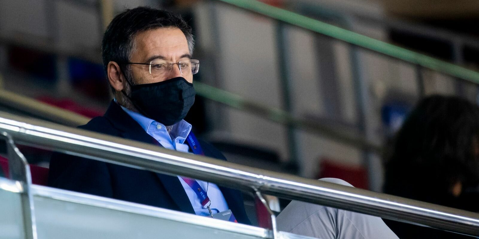 Josep Maria Bartomeu, al Palau Blaugrana  FC Barcelona