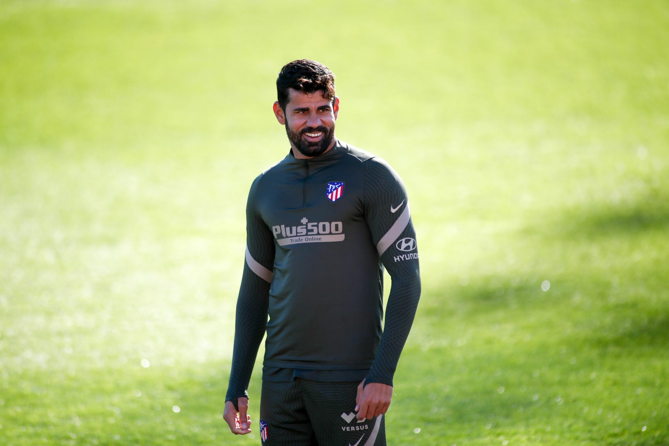 Diego Costa, durant un entrenament de l'Atlètic de Madrid | Europa Press