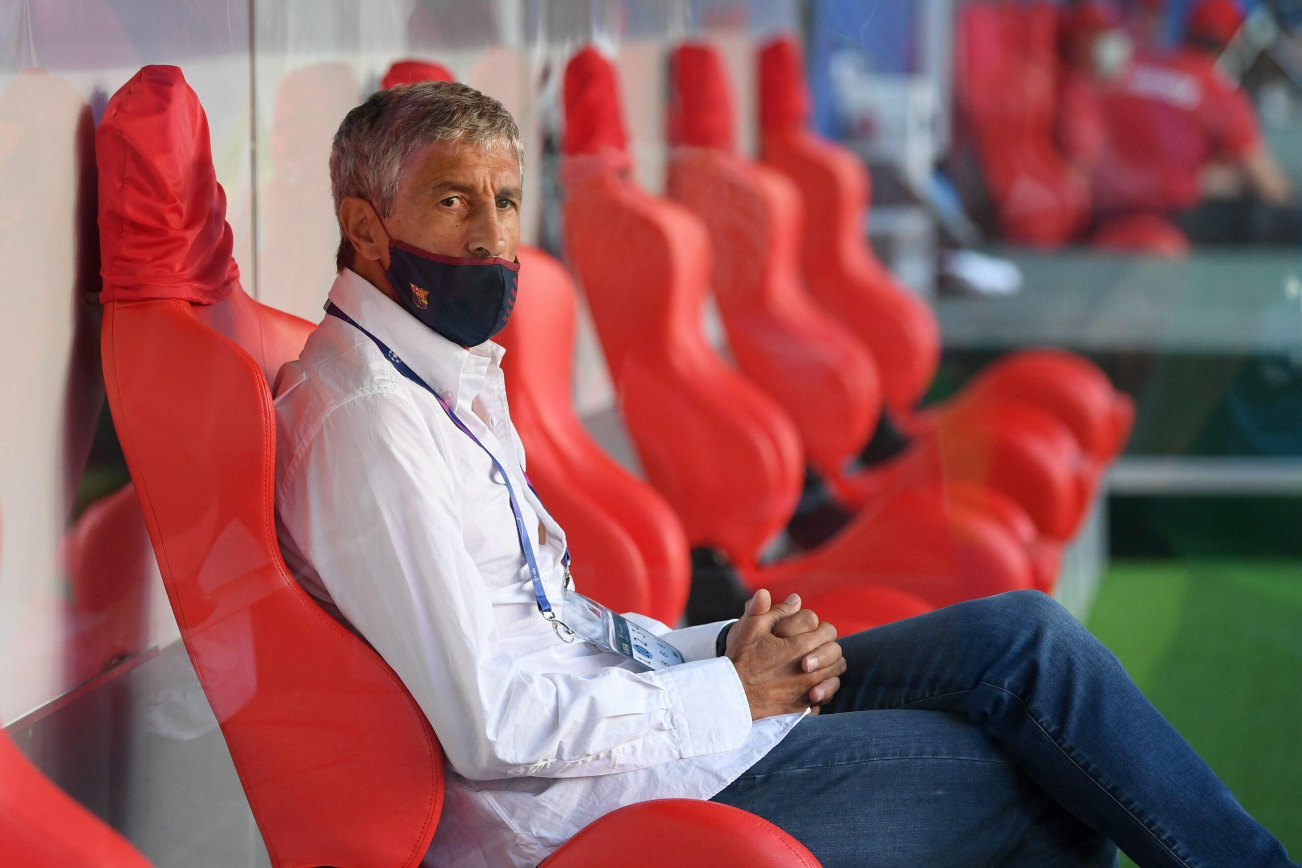 Quique Setién, a la banqueta del partit contra el Bayern | Europa Press