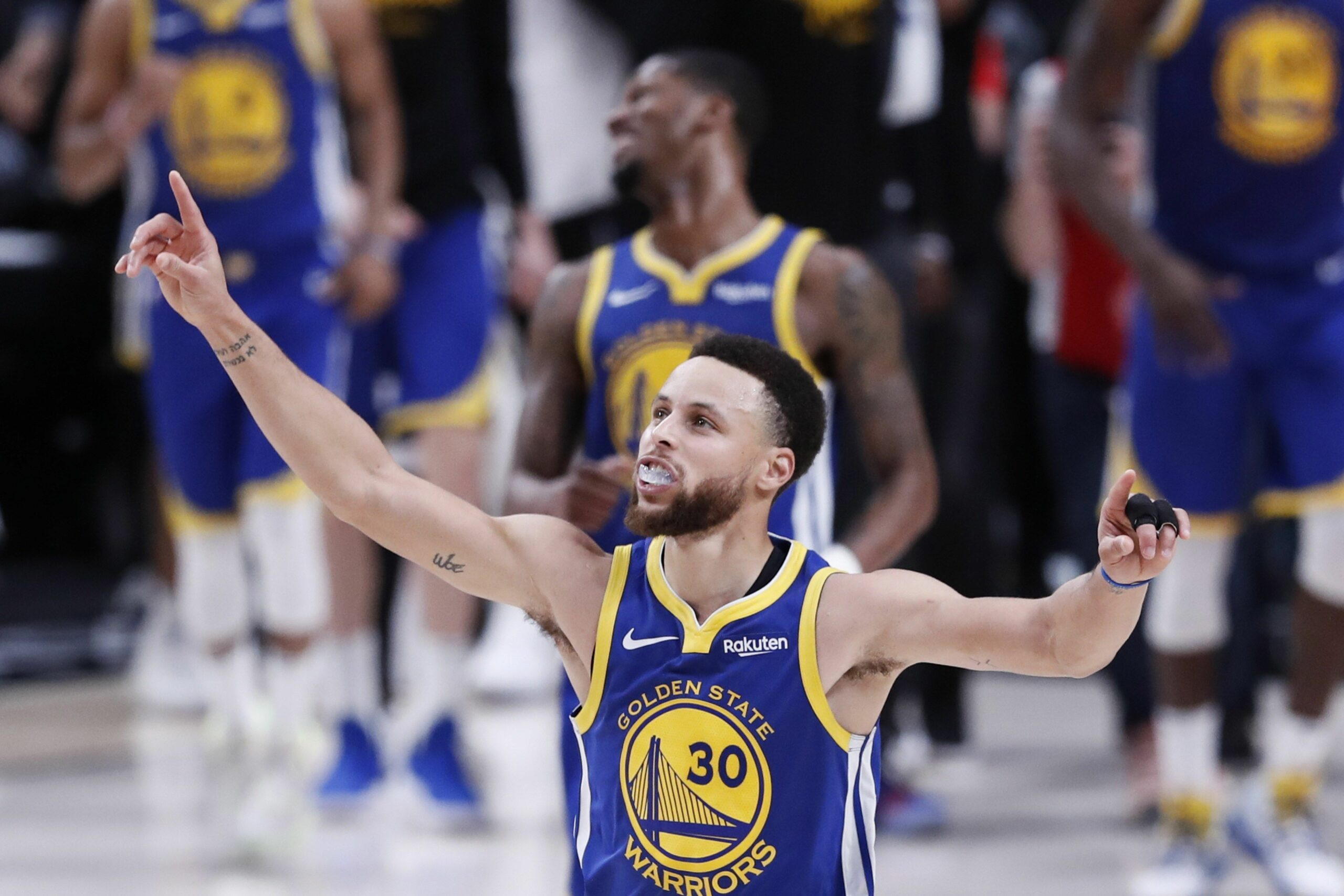 Curry celebra la classificació per a les Finals dels Warriors | EFE