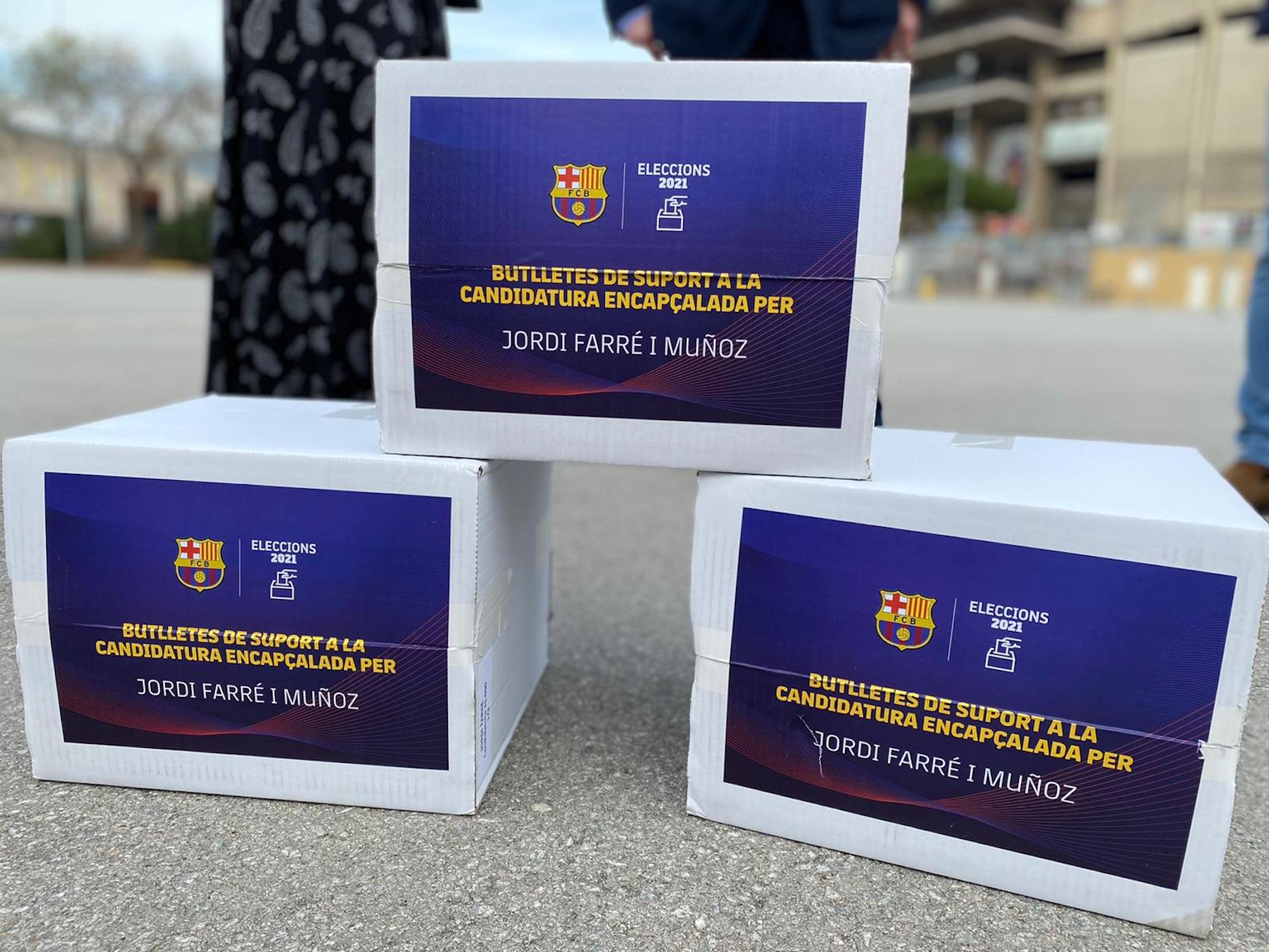 Butlletes de suport a la candidatura de Jordi Farré de cara a les eleccions a la presidència del Barça | @JordifarreFcb