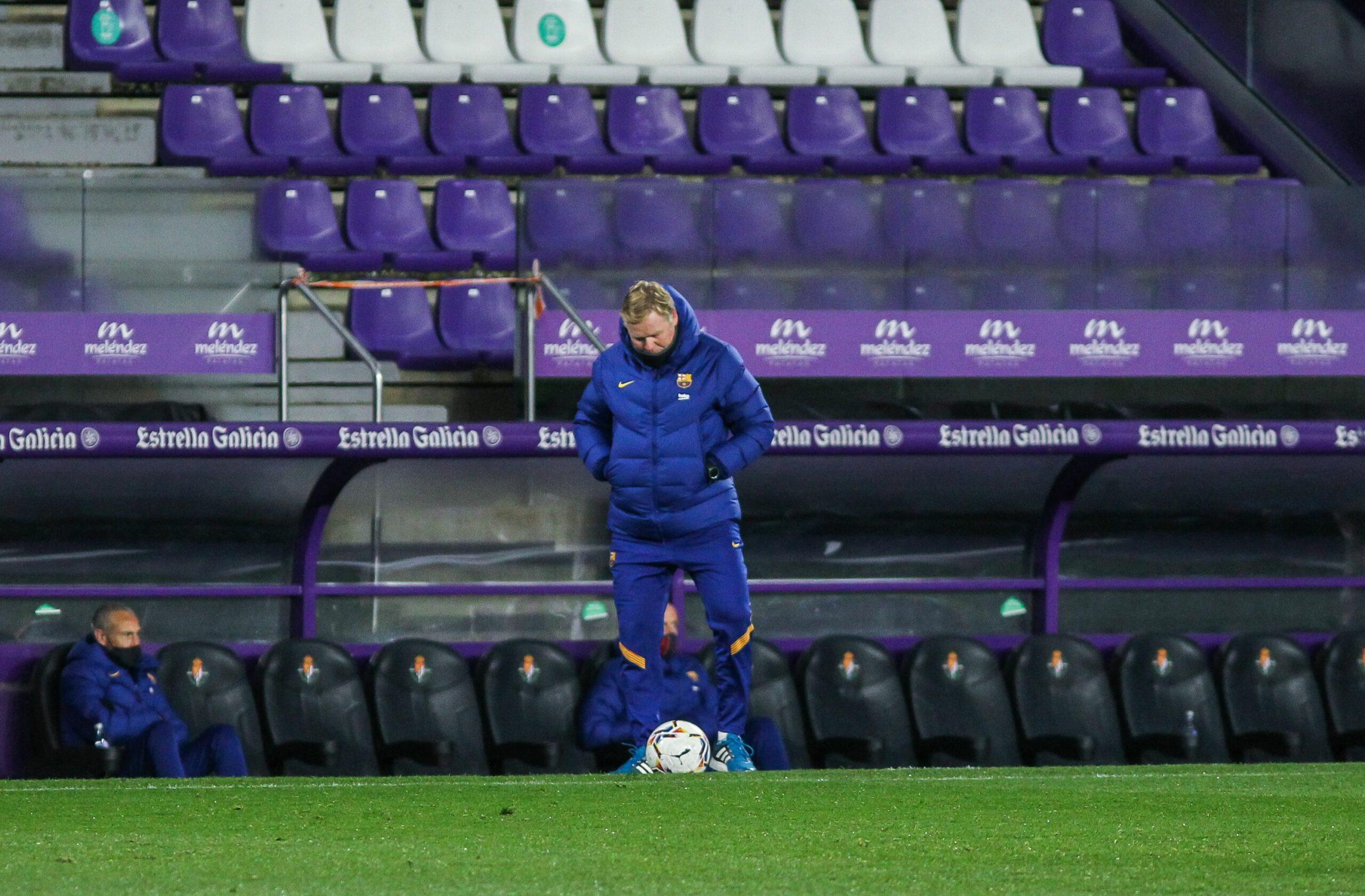 Koeman, entrenador del Barça, a Pucela   Europa Press