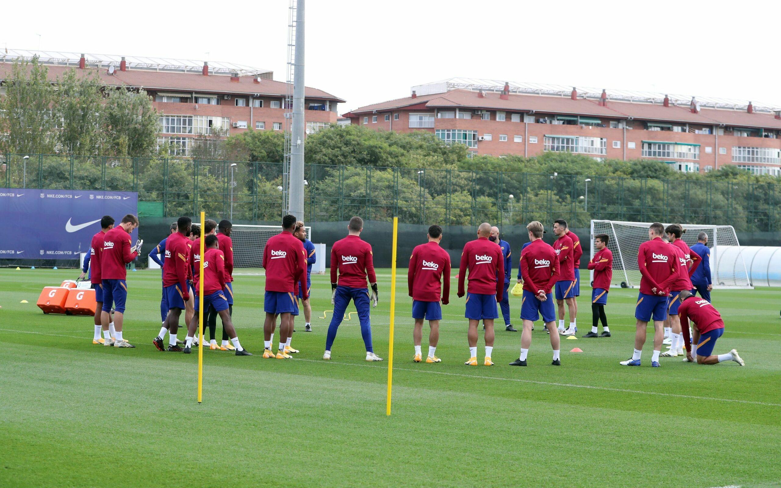 Els jugadors del Barça, en l'entrenament previ a un partit | FC Barcelona