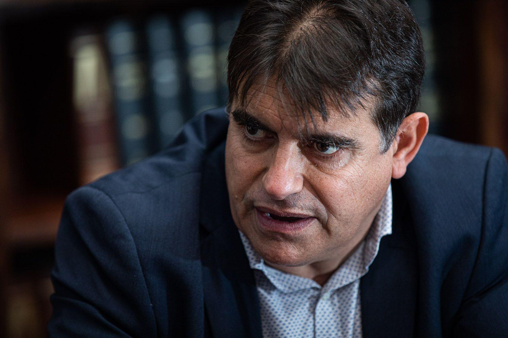 Lluís Fernández Alà, durant l'entrevista amb El Món | Jordi Borràs