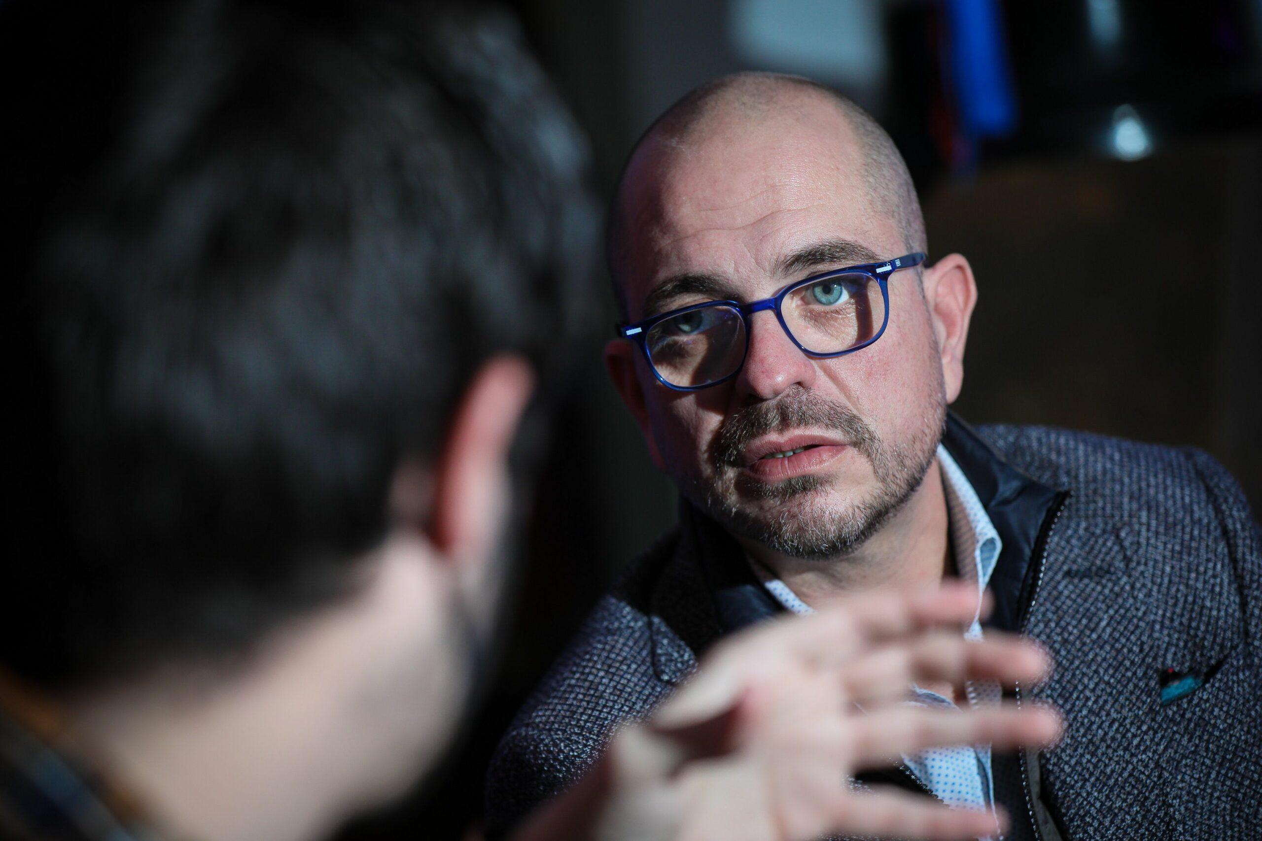 Jordi Farré, durant l'entrevista amb El Món | Jordi Borràs