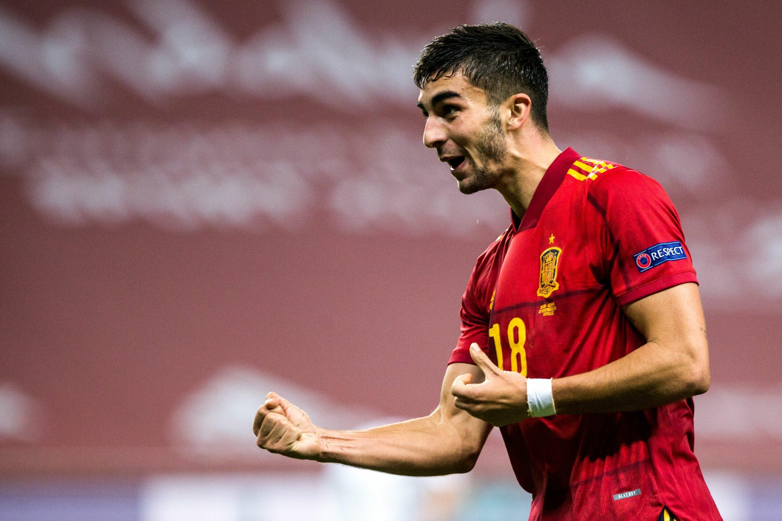 Ferran Torres celebra el seu gol amb la selecció espanyola   Europa Press