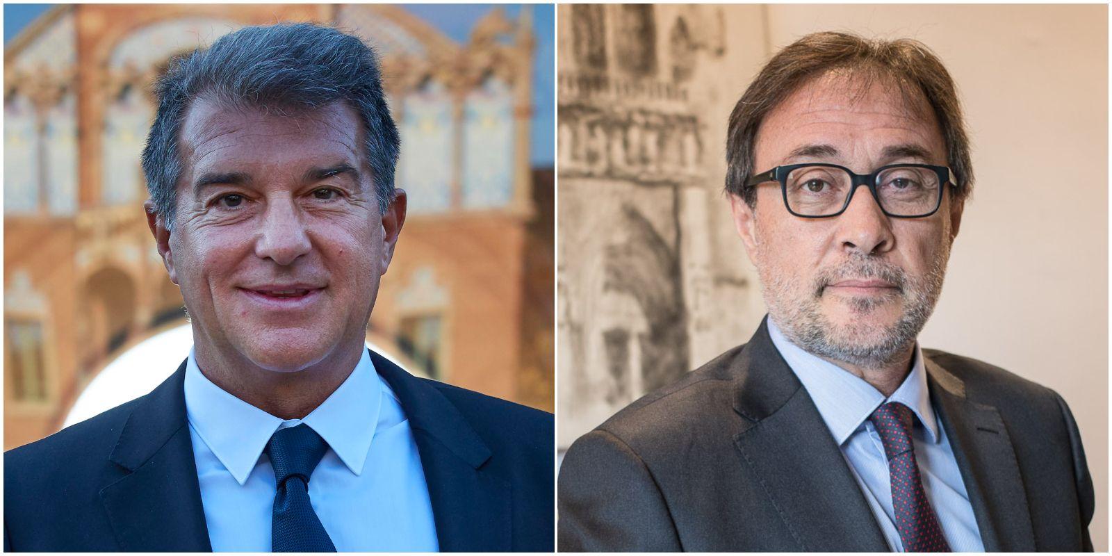 Joan Laporta i Agustí Benedito, precandidats a les eleccions de Barça | El Món