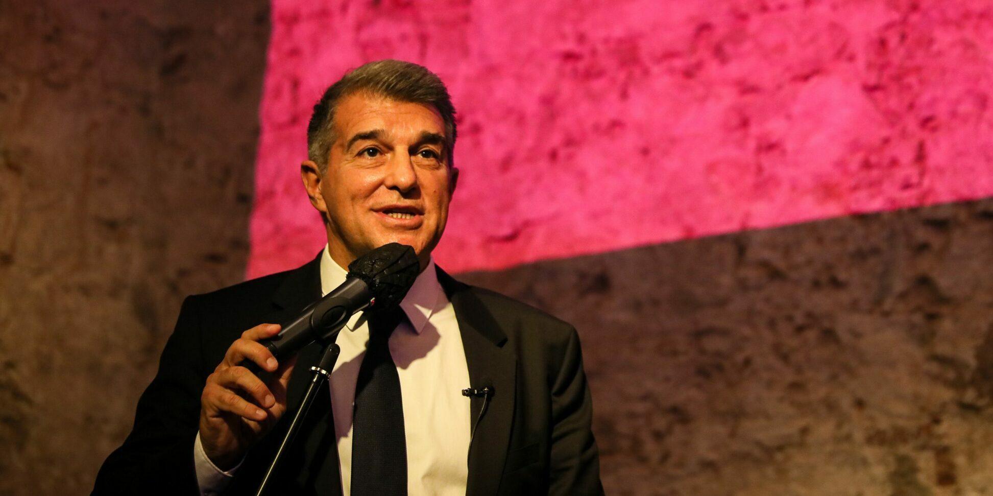 Joan Laporta, durant la inauguració de la seu electoral d''Estimem el Barça' | Jordi Borràs