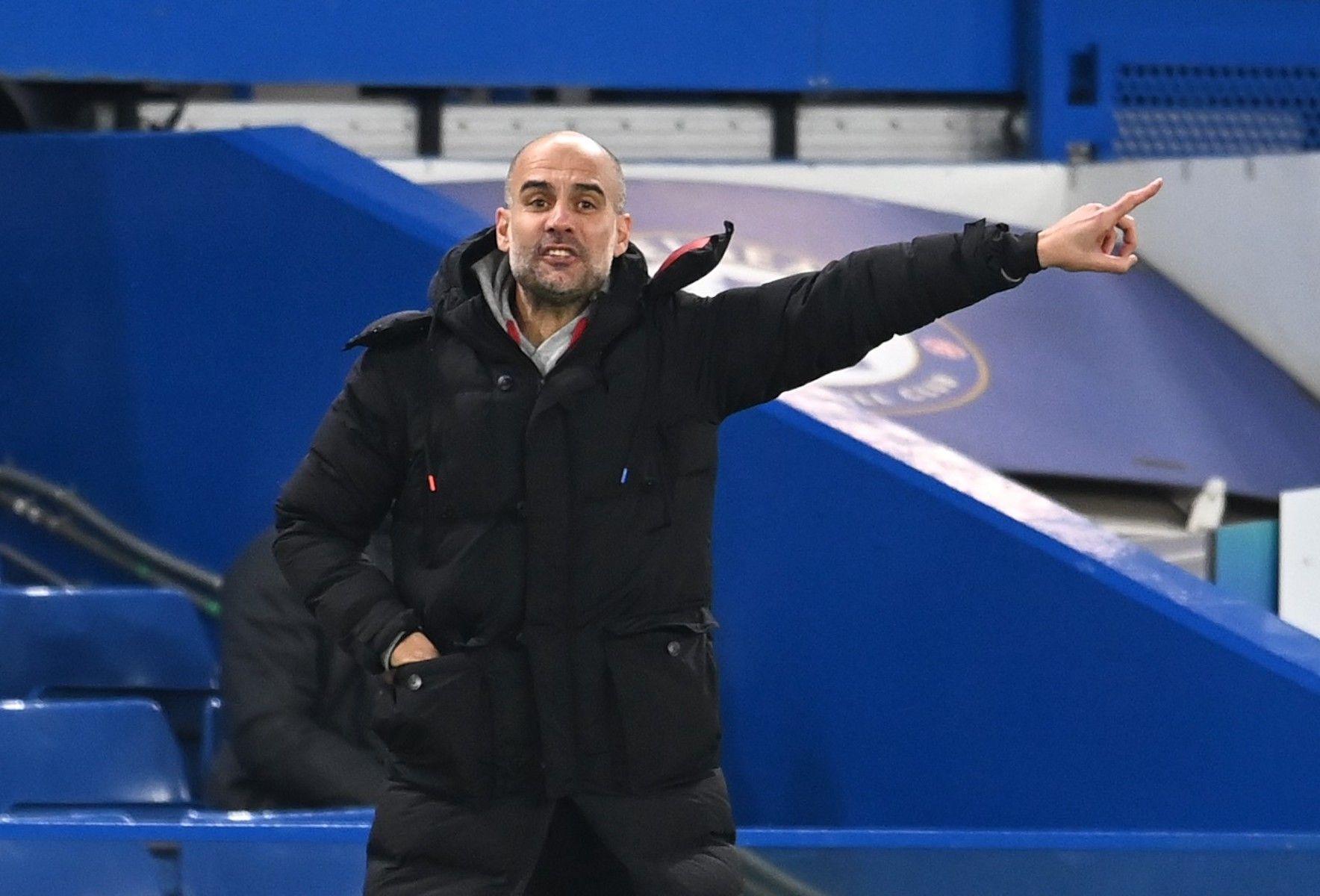 Guardiola, durant un partit del Manchester City | Europa Press
