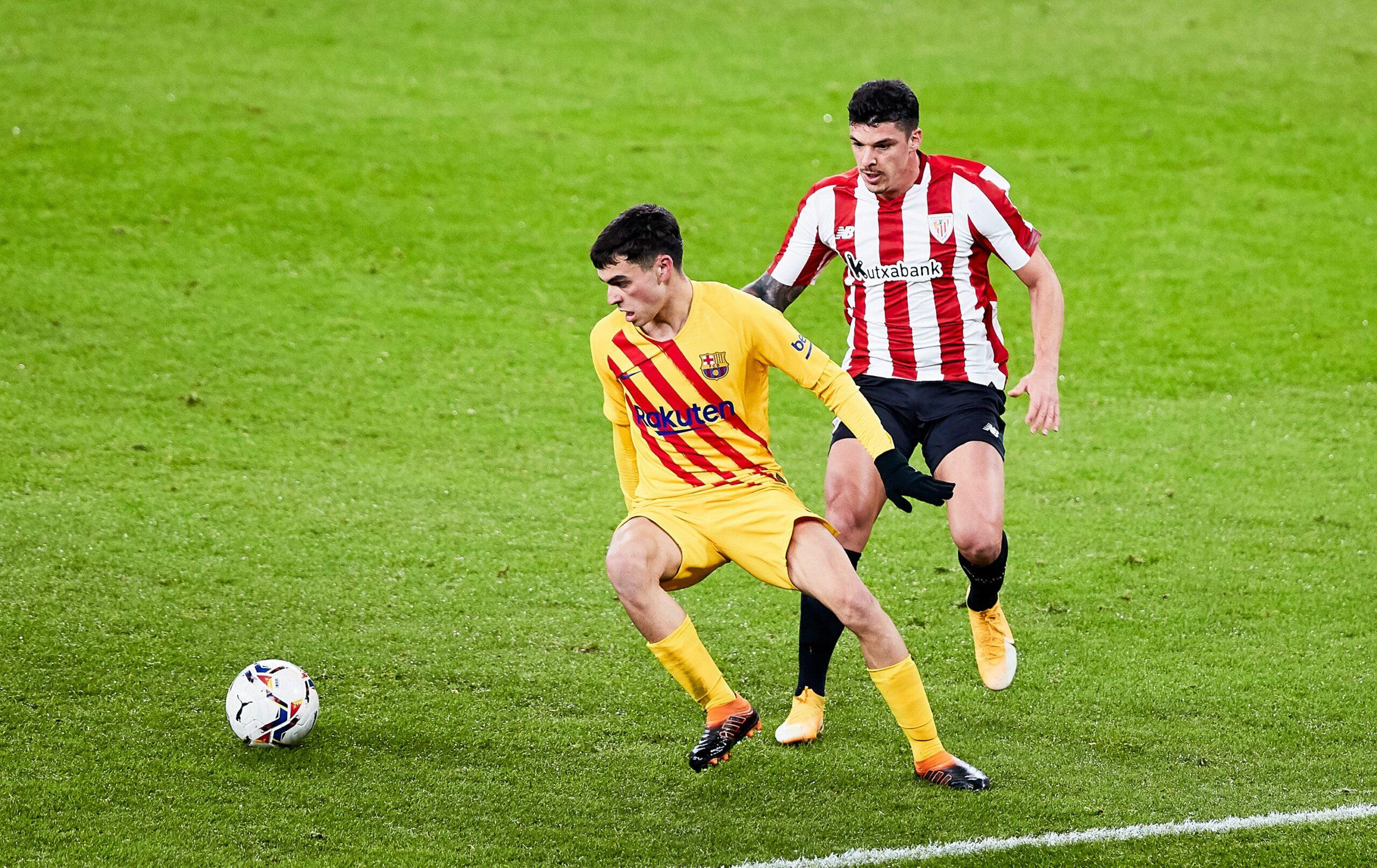 Pedri, durant el partit contra l'Athletic | Europa Press