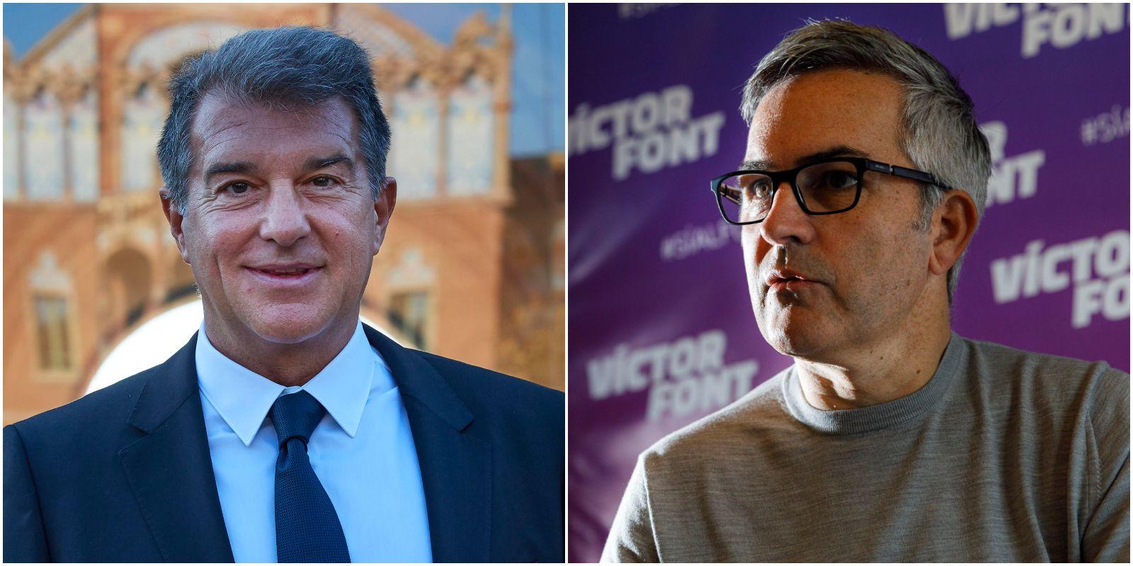 Joan Laporta i Víctor Font, candidats a les eleccions del Barça | El Món