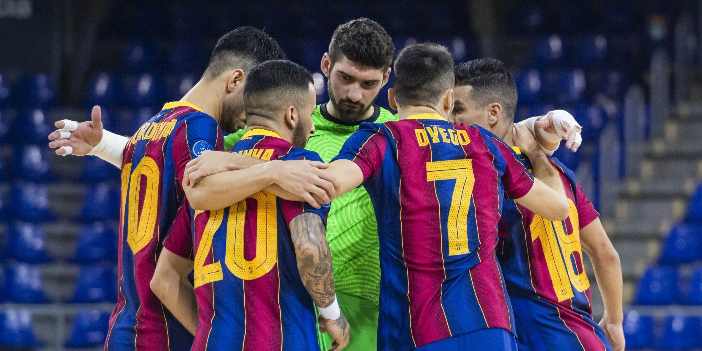 Els jugadors del Barça de futbol sala, abans d'un partit | FC Barcelona