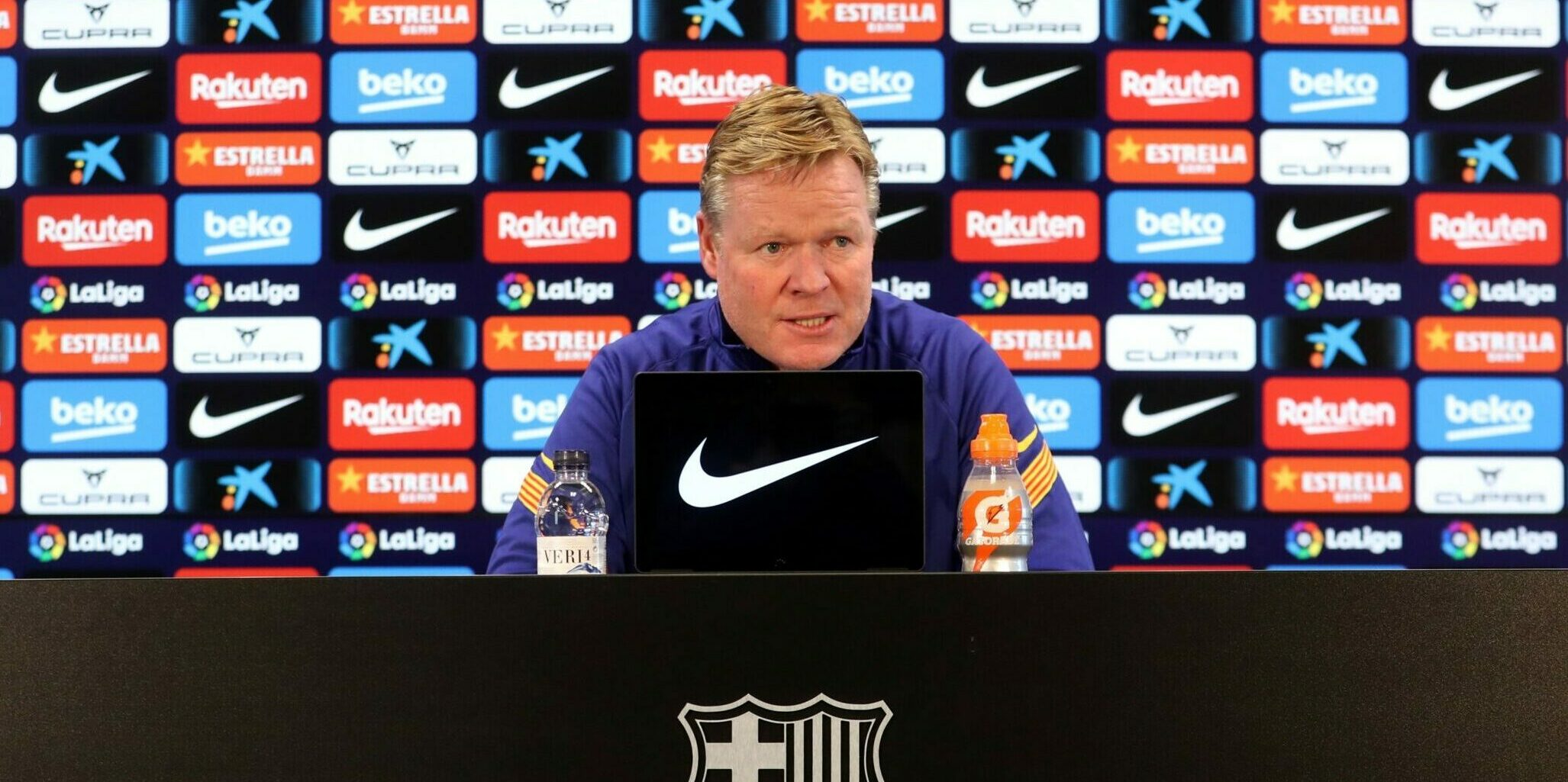Ronald Koeman, en roda de premsa | Europa Press