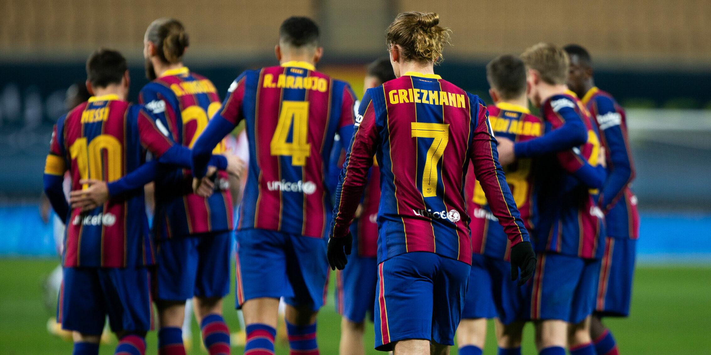 Els jugadors del Barça, durant la final de la Supercopa d'Espanya   Europa Press