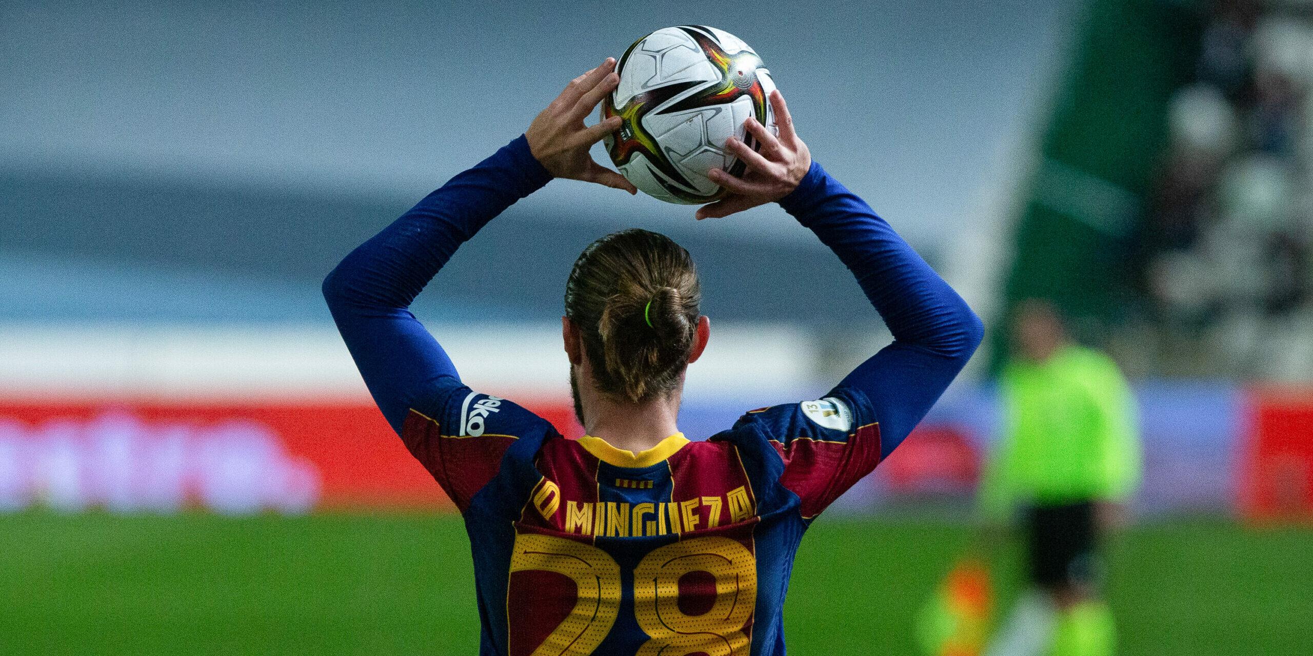 Mingueza, durant un partit de la Supercopa d'Espanya |Europa Press